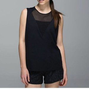 Lululemon muscle tank with mesh activewear top